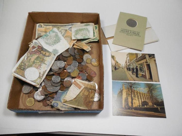 Very Large Group Lot Foreign Coins etc