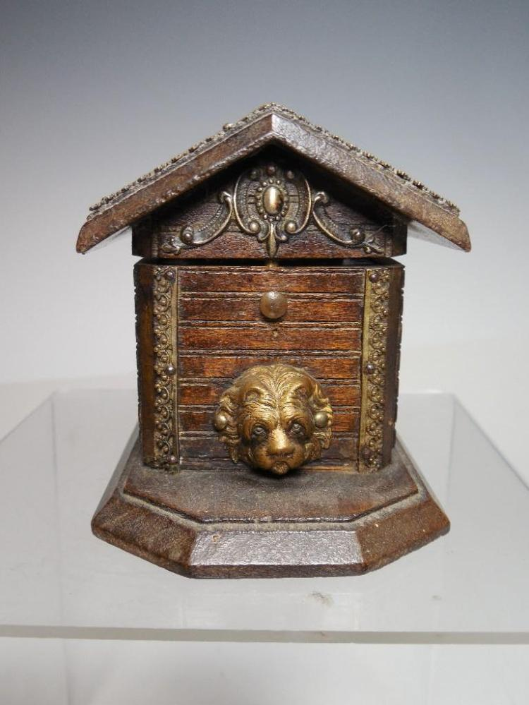 Wow - Rare Doghouse Travelling Inkwell w/bottle