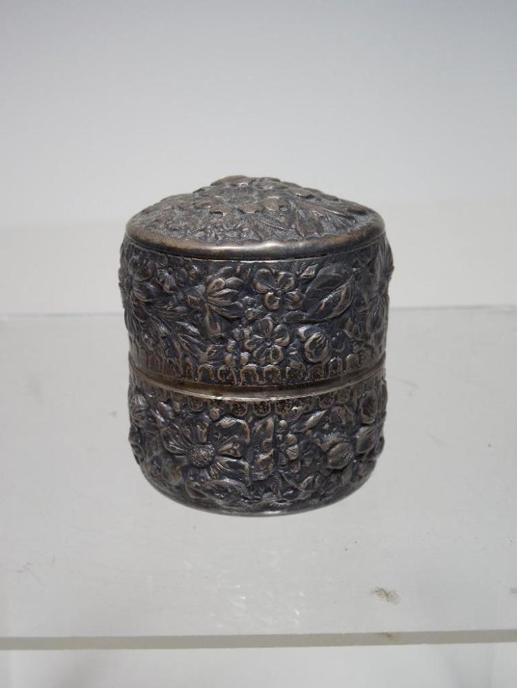 Fine Victorian Travelling Inkwell Sterling Silver