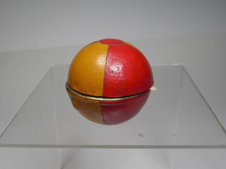 Antique Brass Soccer ball Travelling Inkwell