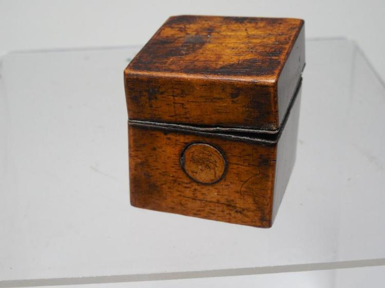 Very Early Wooden Box Travelling Inkwell