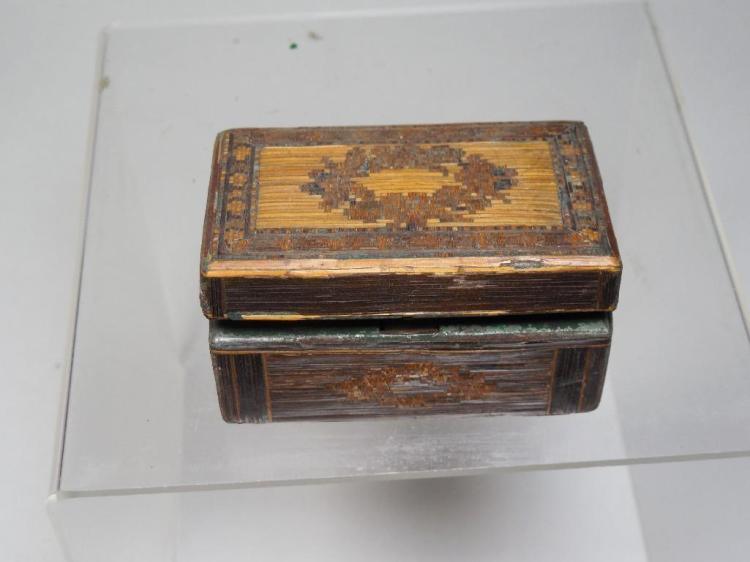 Antique Folk Art Travelling Inkwell Box w/bottle