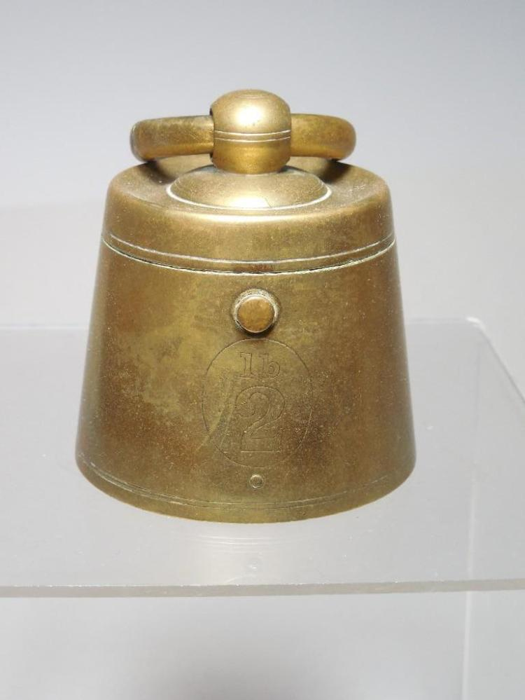 Antique Travelling Inkwell Scale Weight Design