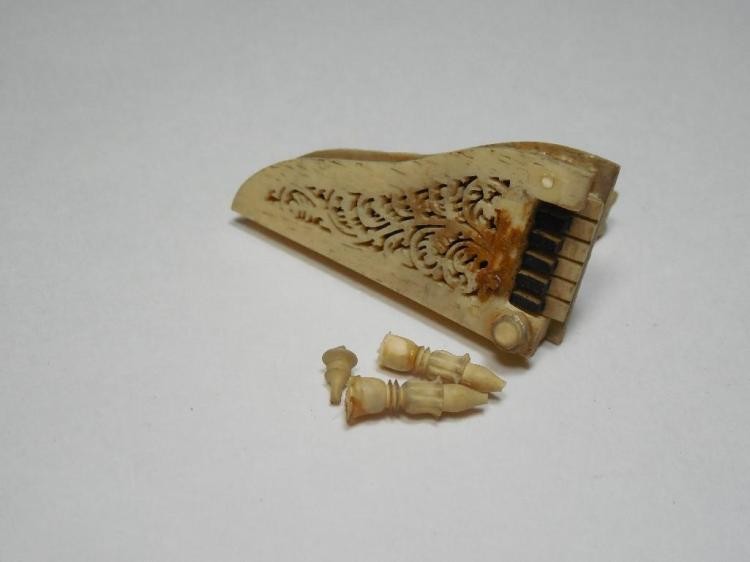 Early Antique Carved Bone Piano
