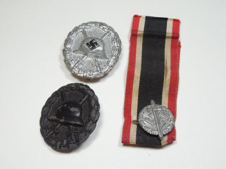 Group Lot Nazi German Medals Inc. Wound Badges