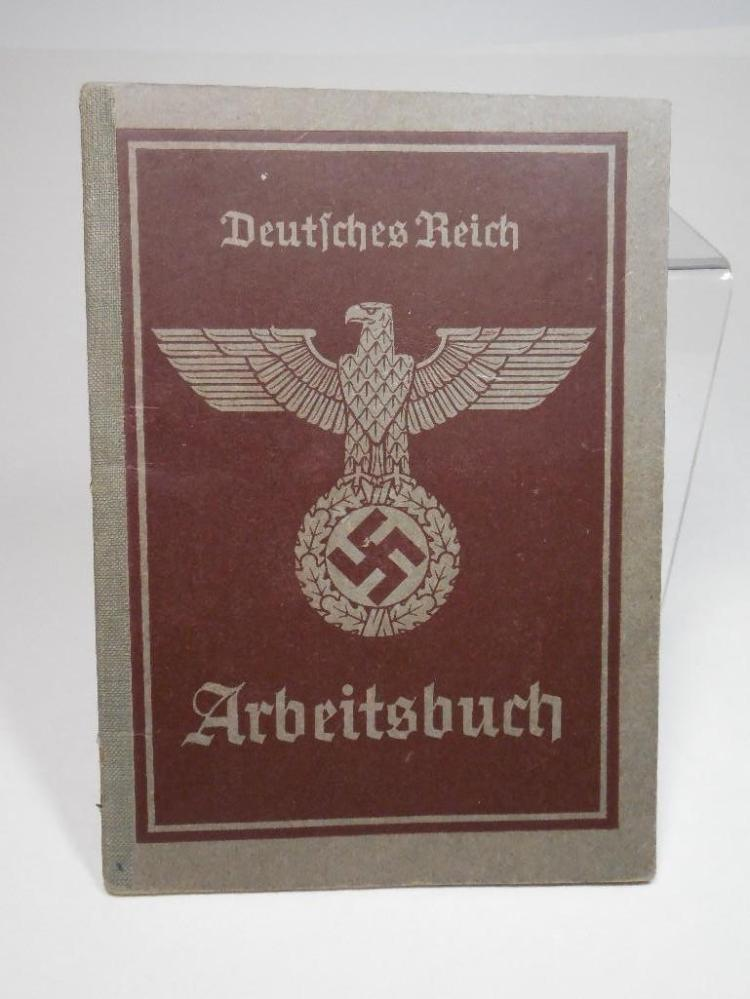 Nazi German WWII Work Pass Book w/Notes