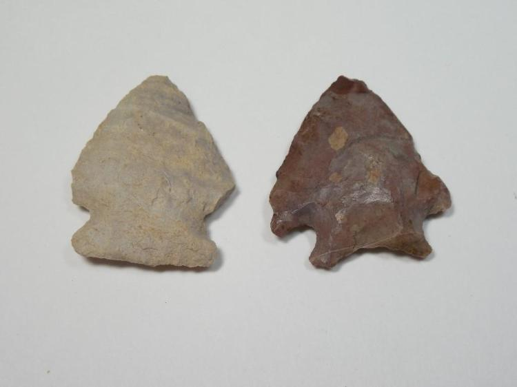 2 Native American Arrowheads