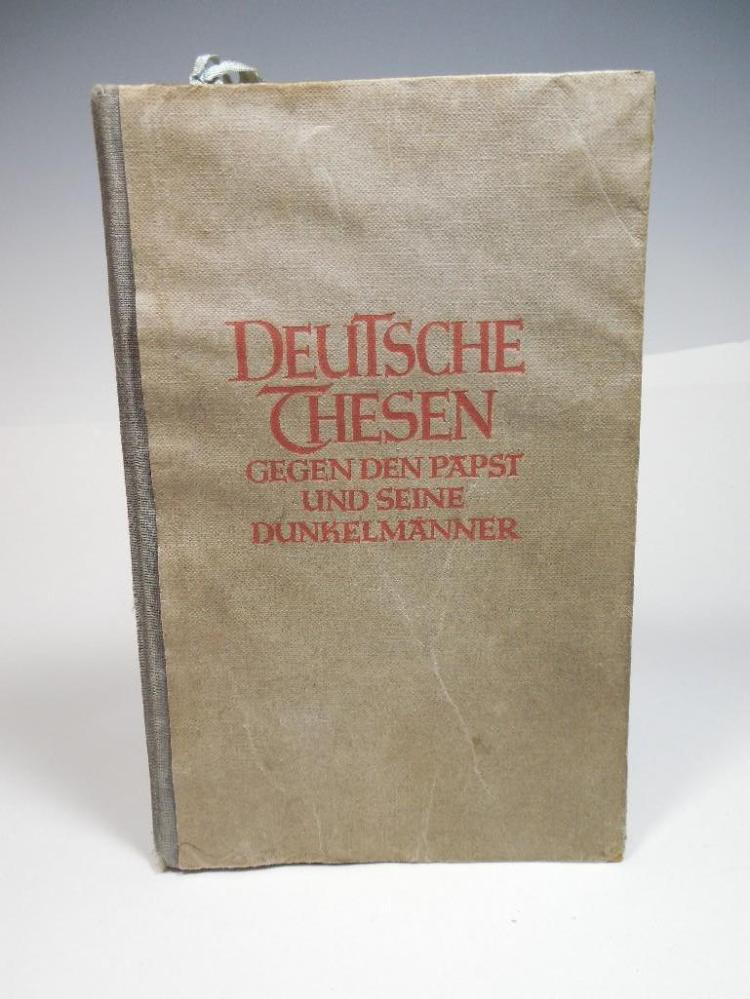 Anti Catholicism Book Awarded by Nazi SS Officer