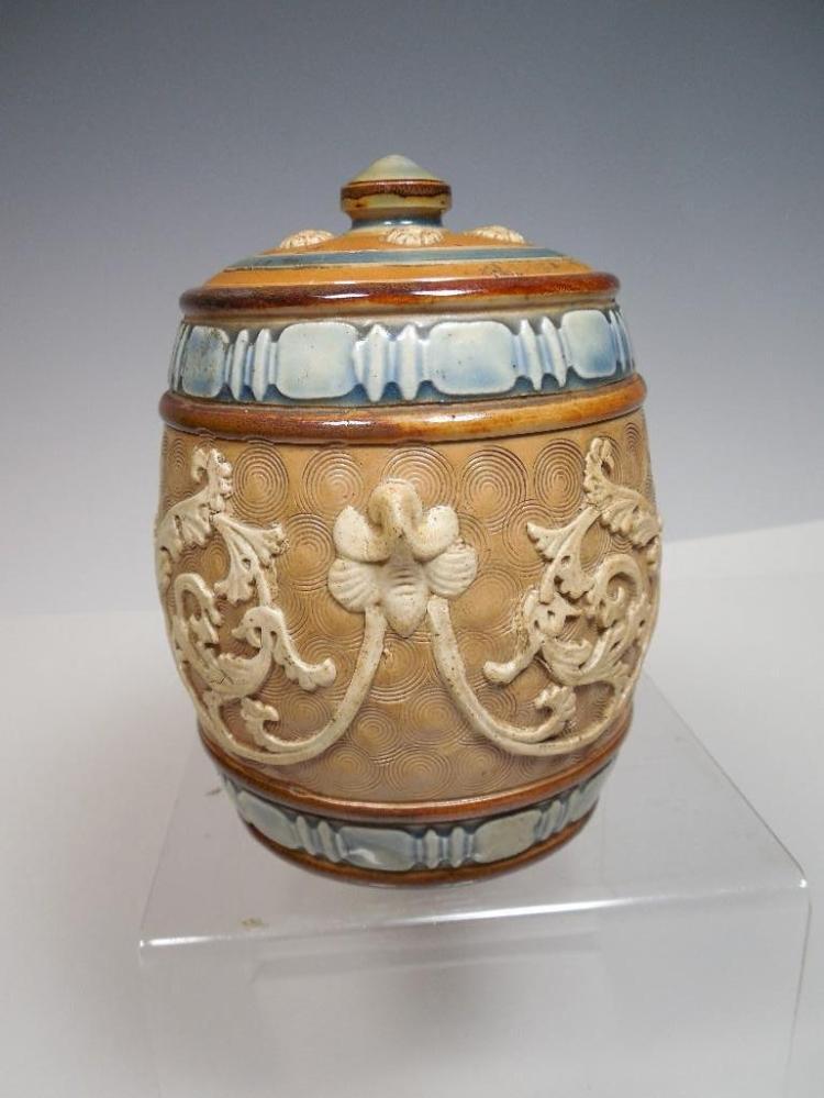 Fine Antique German Ceramic Humidor