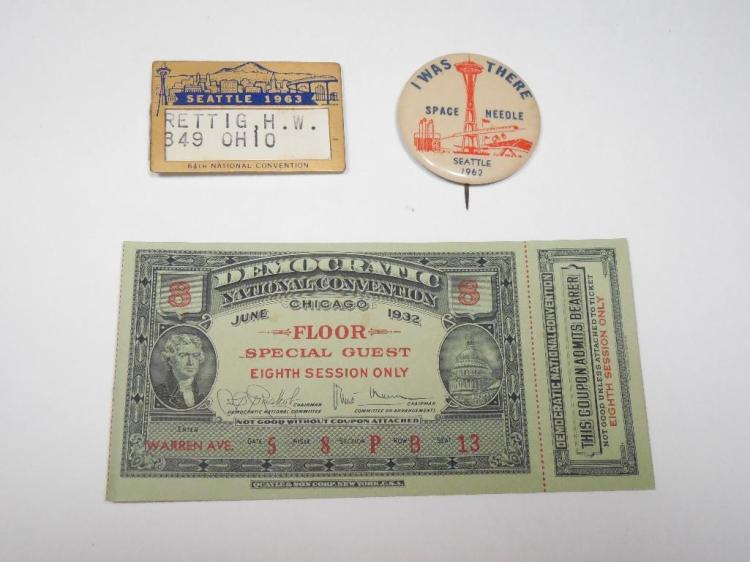 Group Lot Antique Political Items Inc. Conventions