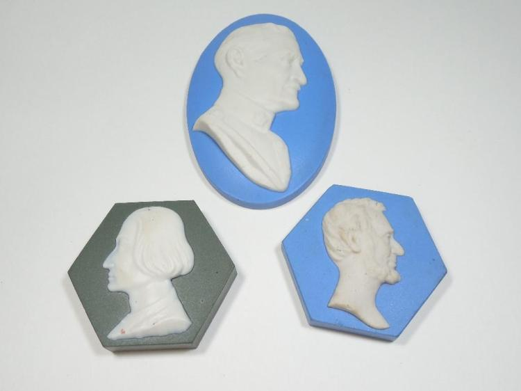 Group Lot of 3 Antique Historic Tiles Inc. Lincoln