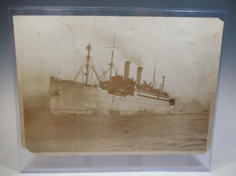 Large WWI Era Naval Ship Photograph