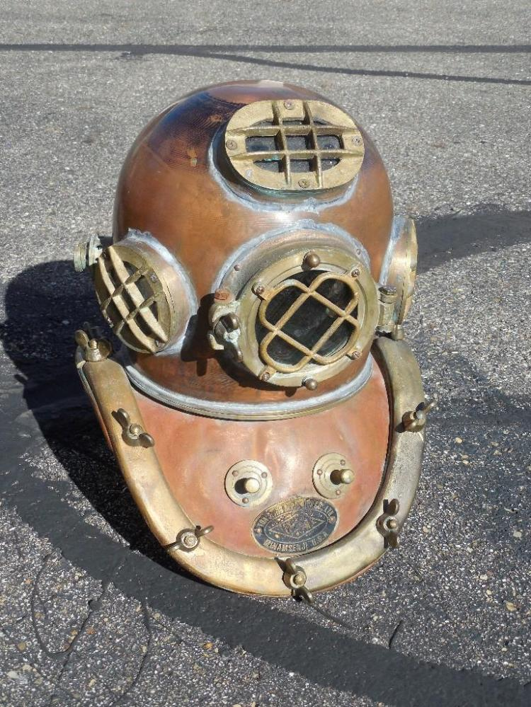 Antique Copper Diving Helmet Hat by TOA