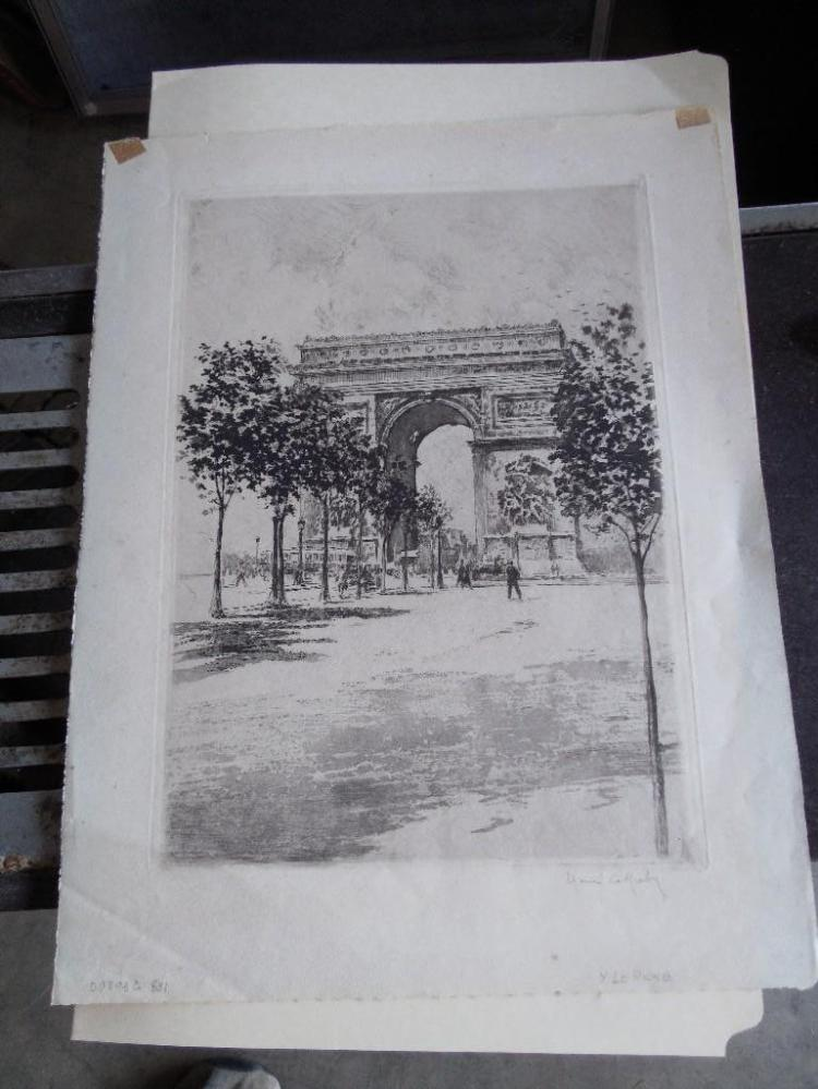 Antique French Etching by Henri Le Riche