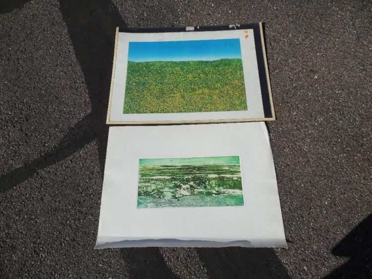 2 Screenprint Prints by Artist Ruth Leaf (b. 1923)