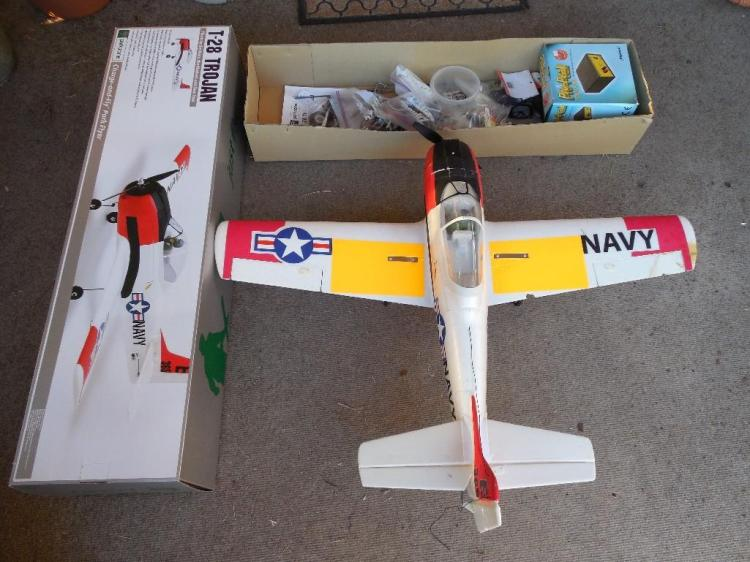 Nice Model RC Airplane w/Box, Accessories