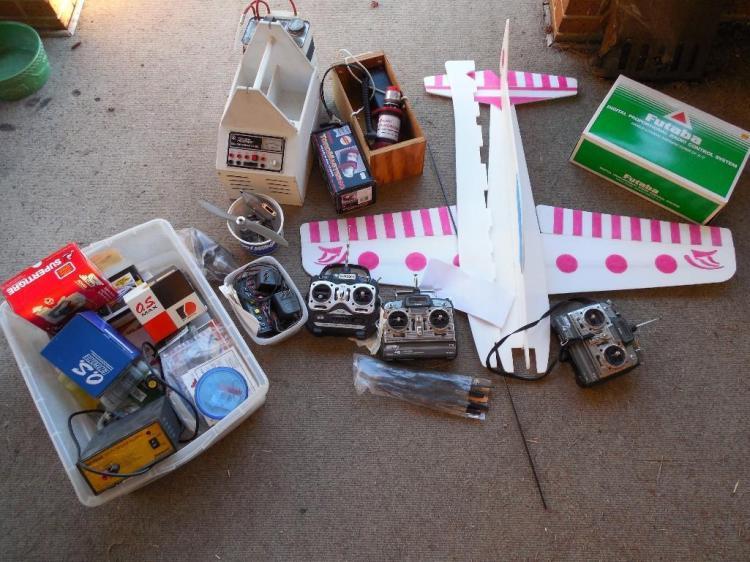 Huge Lot RC Airplane Controllers, Motors etc