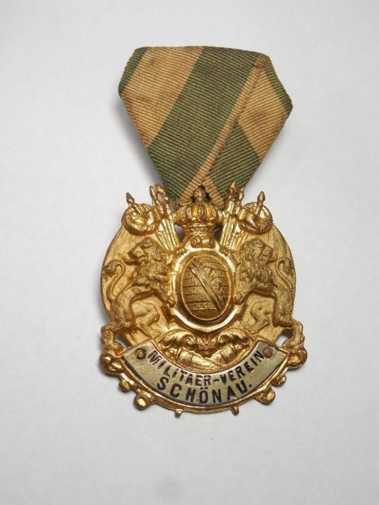 Unusual German Schonau Military Association Medal