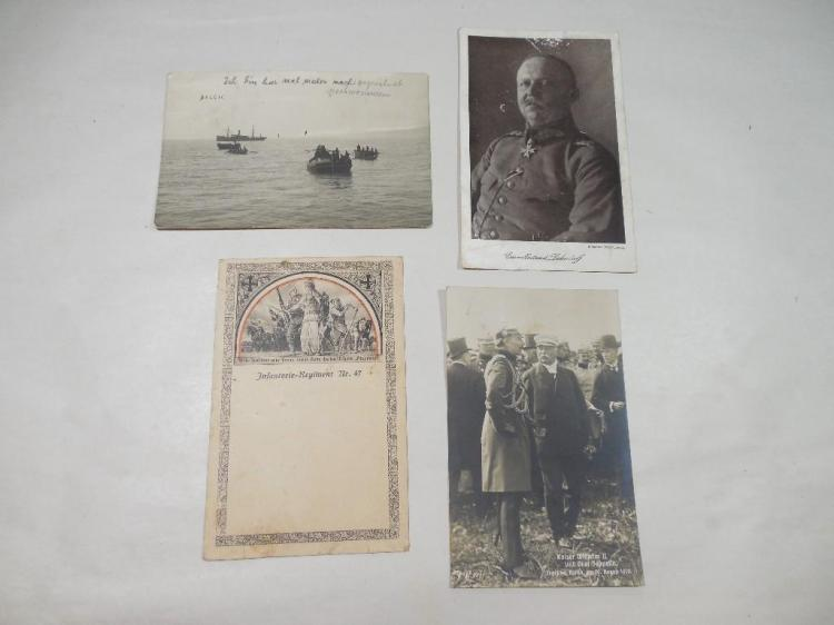 4 German WWI Military Postcards Inc. Real Photo