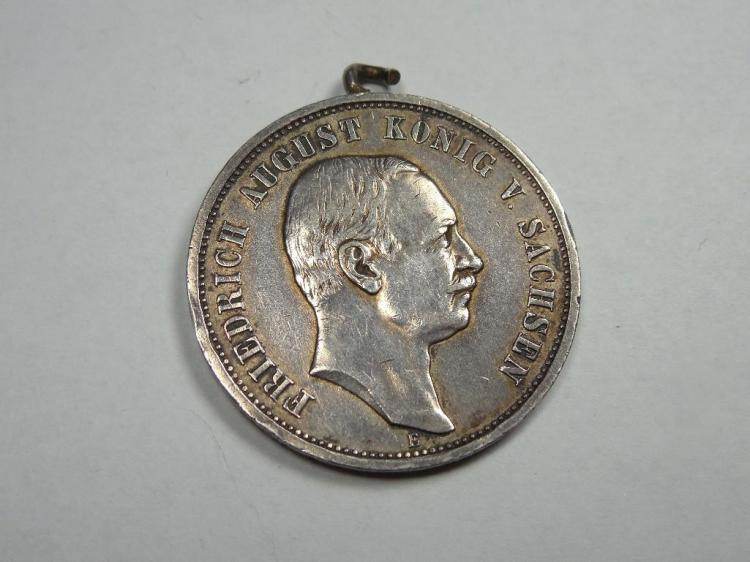 Rare German Military Medal Extensive Inscription
