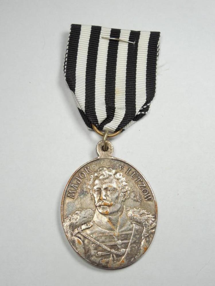 Rare German MajorLutzow silver centenary medal