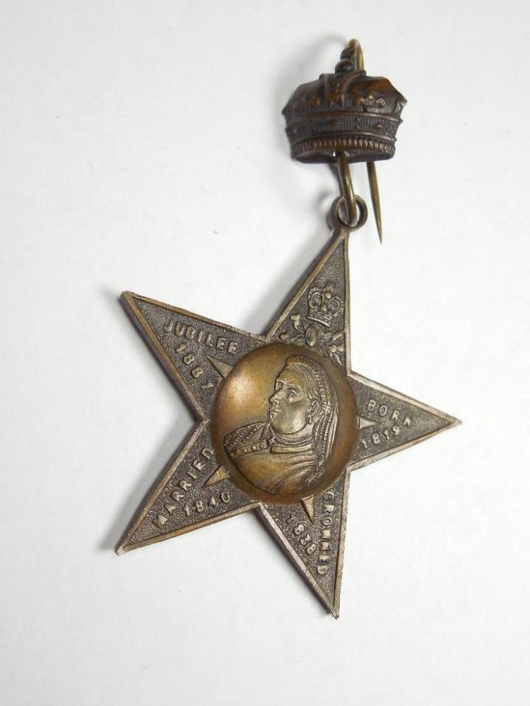 Rare British Queen Victoria Jubilee Celebration Pin