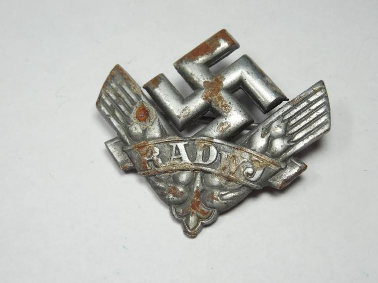 Nazi German Woman's Hitler Youth Labor Pin