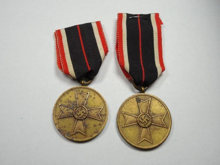 Pair of Nazi German War Merit Medals - 1939