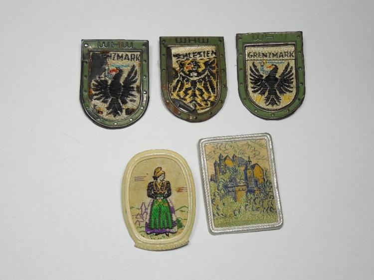Group of Fabric/Metal Nazi German Metal Tinnies