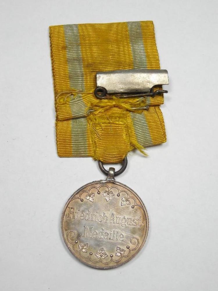 Pre WWI German Friedrich-August medal in Silver