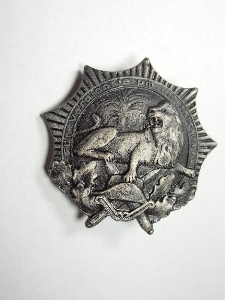 Rare German Colonial Veterans League Medal