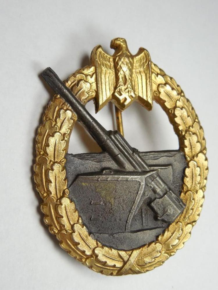 Rare Nazi German Coastal Artillery Badge