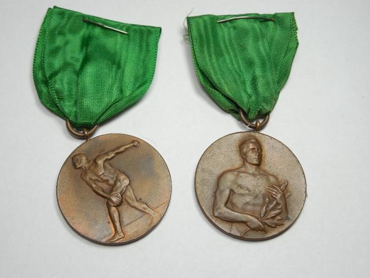 2 Early German Sports Medals 1920s Nice Quality