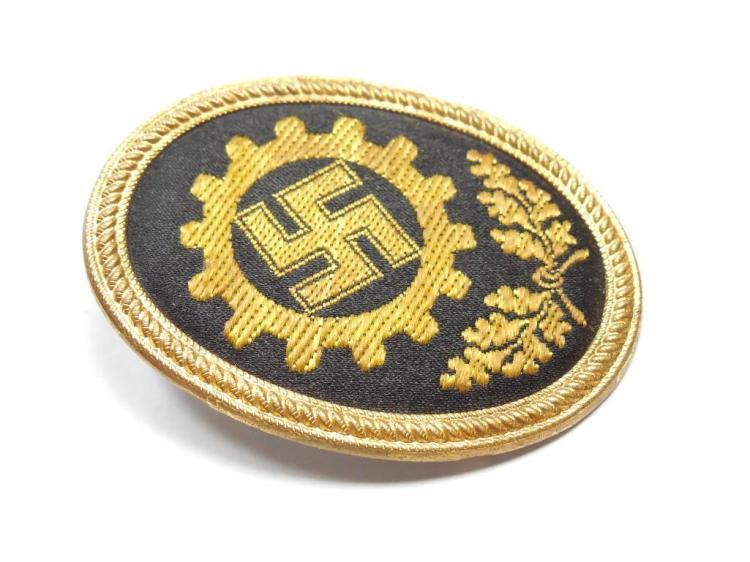 Nazi German Manufacturing Metal Cloth Badge