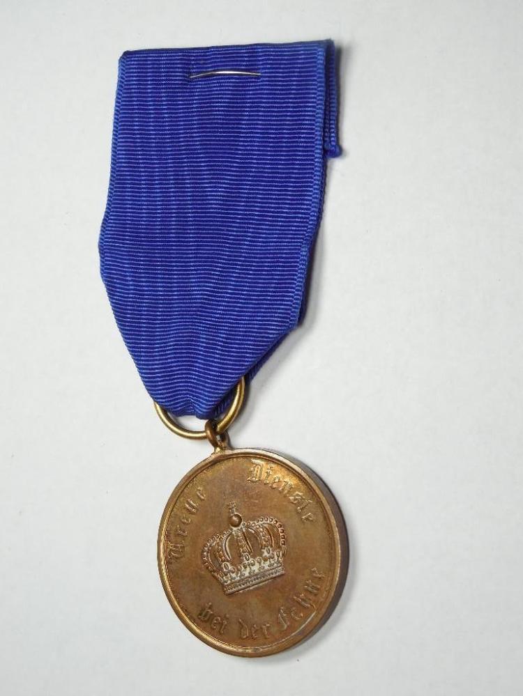 Nice German Military Long Service Medal on Ribbon