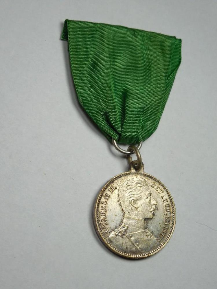 Unusual German Wilhelm II Shooting Medal w/rifle