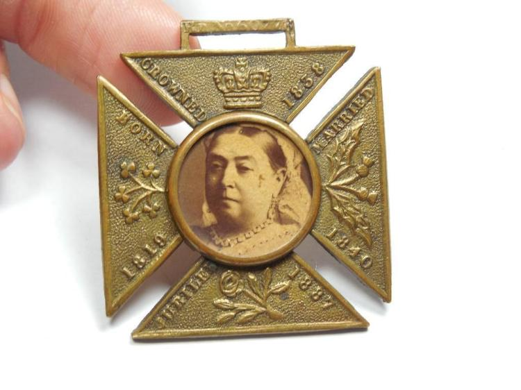 Rare Queen Victoria Portrait Jubilee Watch Fob