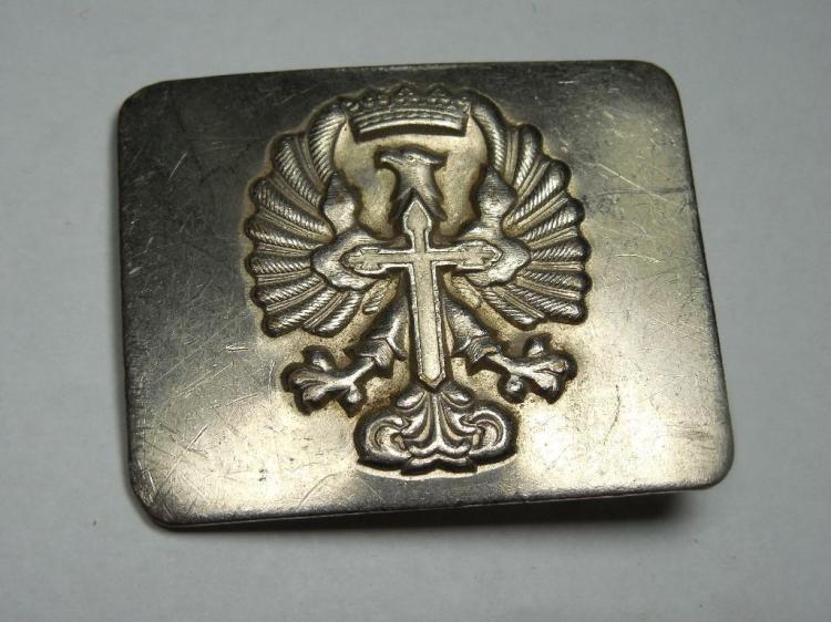 Unusual Antique Fraternal Belt buckle w/Eagle Cross