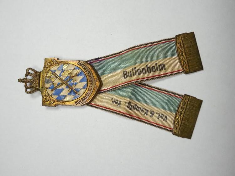 WWI Era German Veteran Association Medal/Ribbon