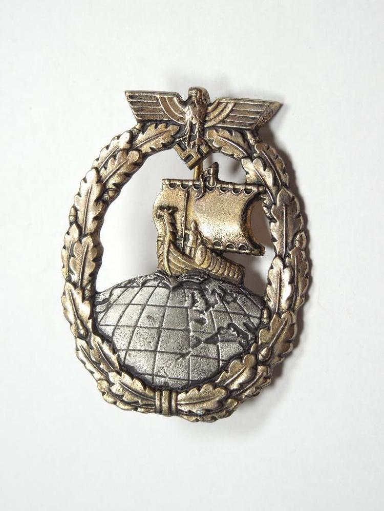 Nazi German Kriegsmarine Auxiliary Cruiser Badge