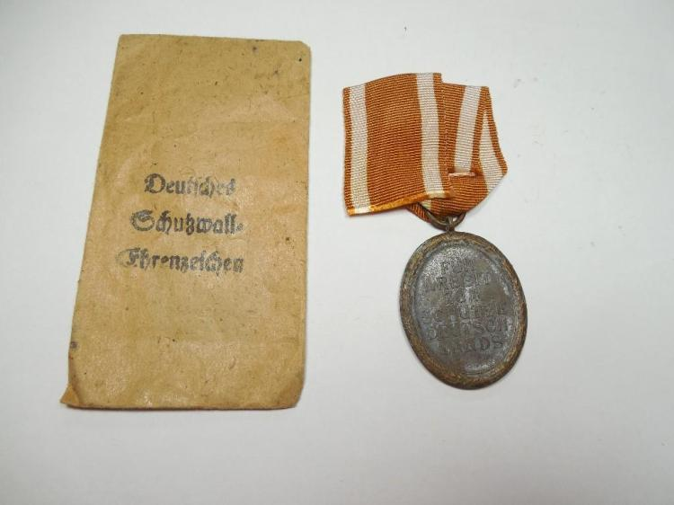 Nazi German Western Wall Medal in Paper Sleeve