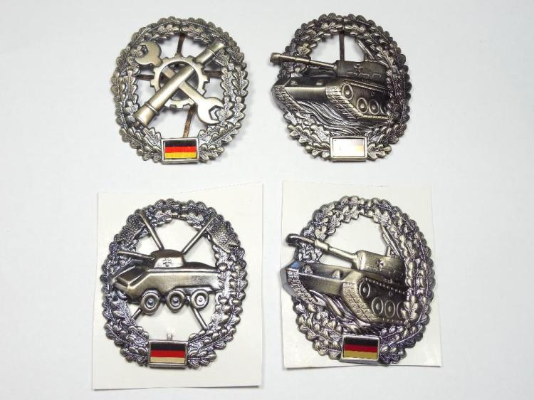 Group Lot of 4 Post WWII German Tank etc Badges