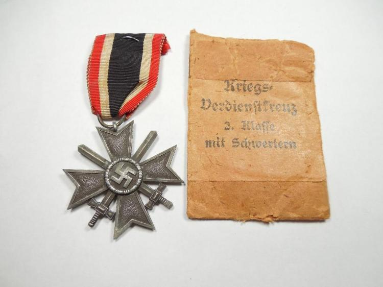 German WWII Nazi Merit Medal in Paper Sleeve