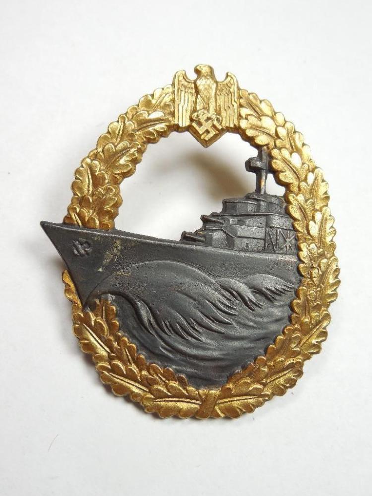 WWII Nazi German Destroyer War Badge
