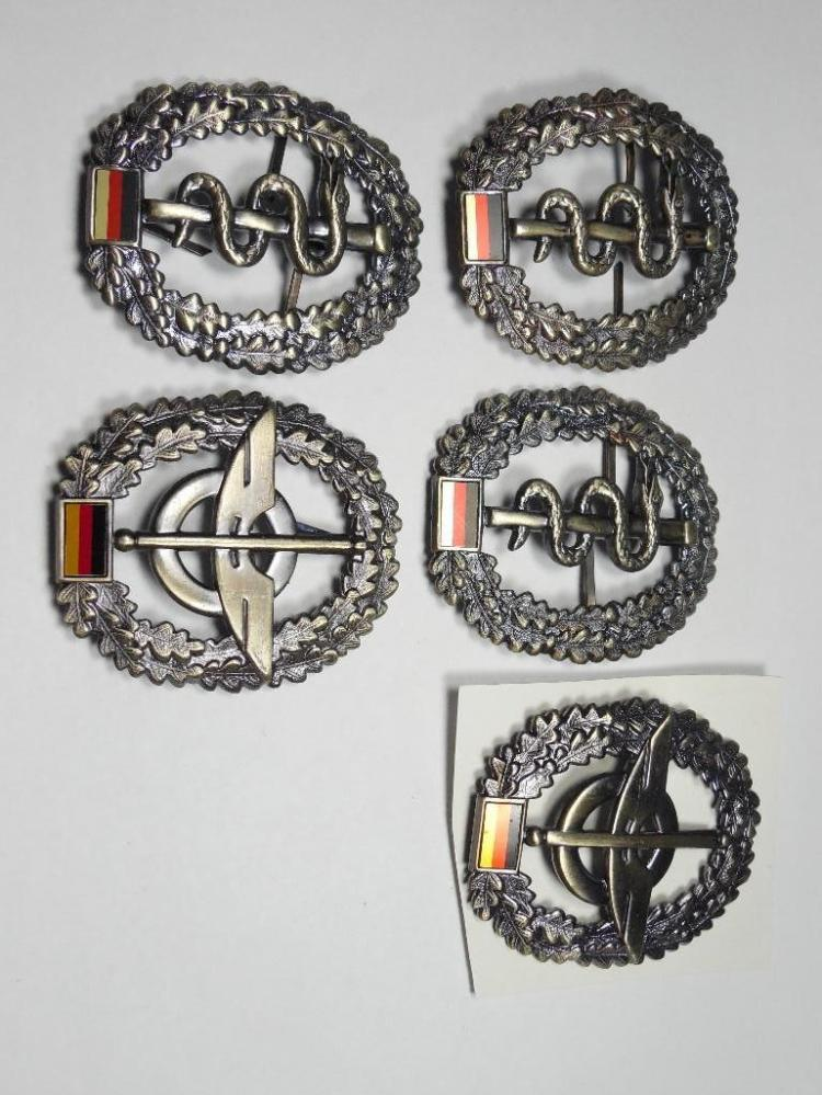 Group lot of 5 Post WWII German Military Badges