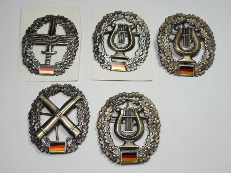 Group of 5 Post WWII German Military Badges