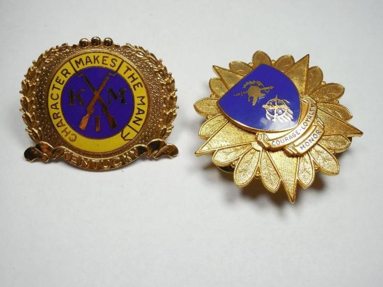 2 Old Military Institute Enamel Uniform Badges