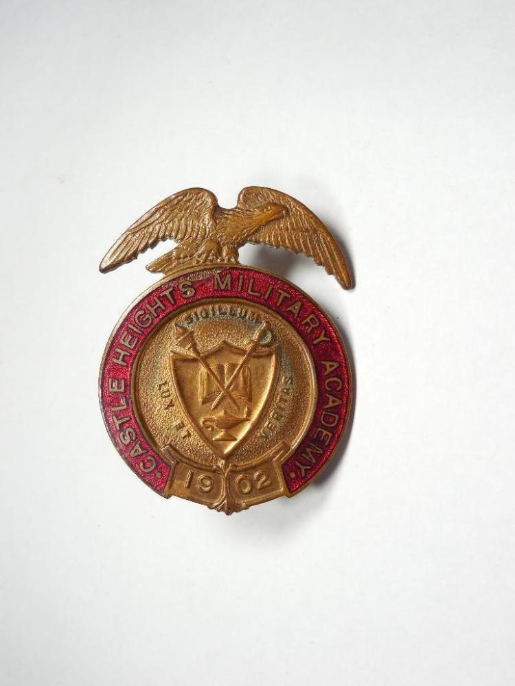 Enamel Castle Heights Military Academy Badge