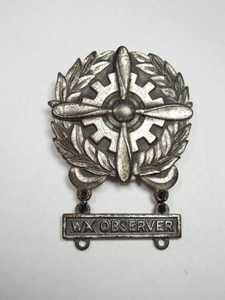 WWII Sterling Aviation Weather Observer Badge
