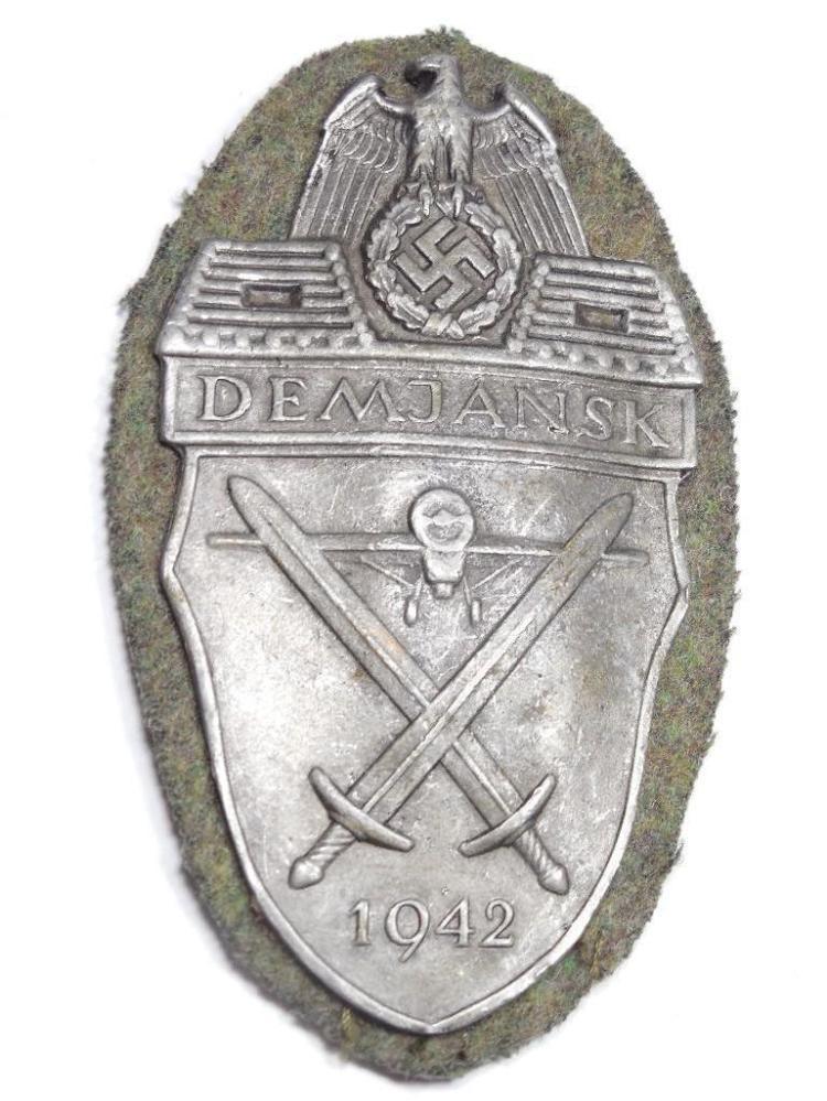 WWII Demjansk Defense Battle Shield on Fabric